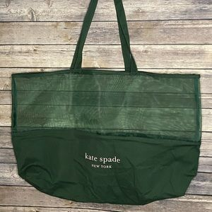 KATE SPADE Reusable Mesh/Canvas Tote Bag Green